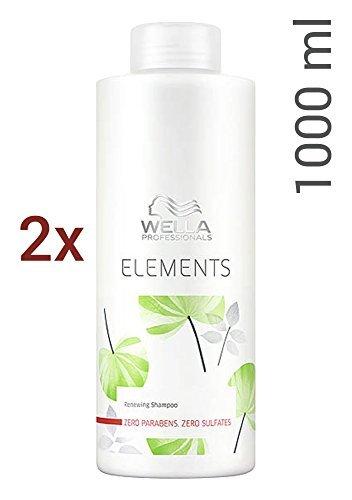 Wella Care Elements sulfatfreies Shampoo SET 2 x 1000ml (Wella Elements Shampoo)