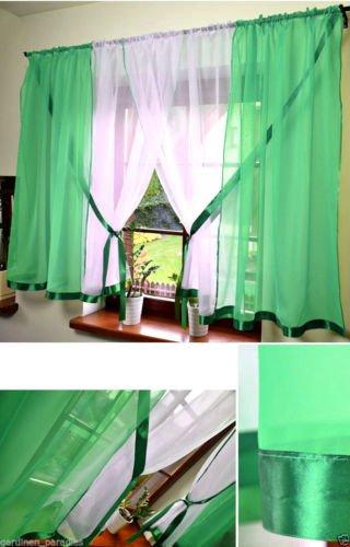 Rideaux modernes, voile, 400 cm x 150 cm prêt-à-poser