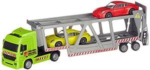 Dickie Toys 203747005Car Transporter Auto Transporter Incluye 2Porsche de vehículos con Motor de fricción