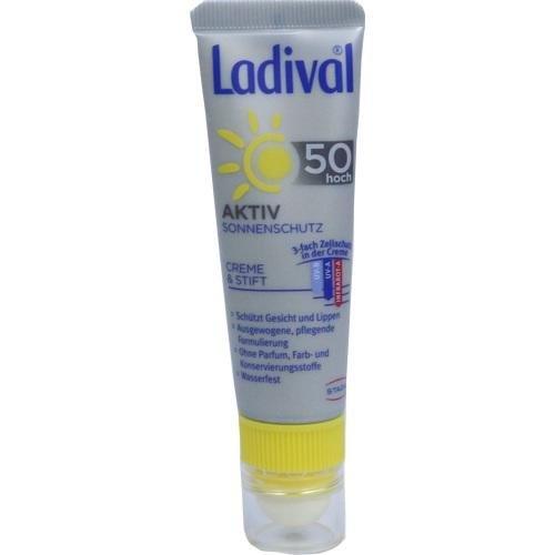 Ladival aktiv Sonnenschutz für Gesicht und Lippen LSF 50 Balsam, 1 St.