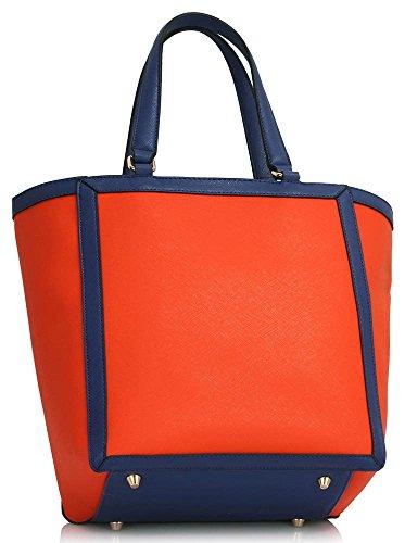 LeahWard® Damen Groß Schultertaschen Damen Weich greifen Tasche Mode Essener Chic HandTaschen CWS00401 CWRS150923 CWS00401-Orange