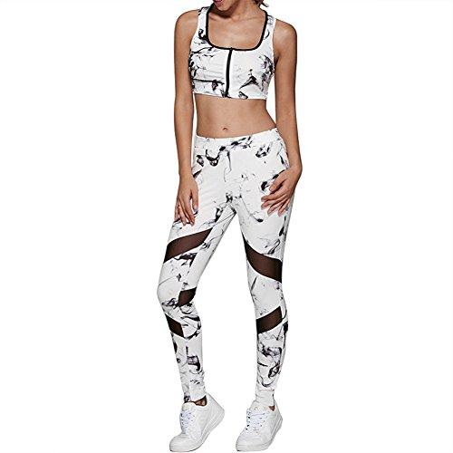 hjuns - Leggings sportivi -  donna White