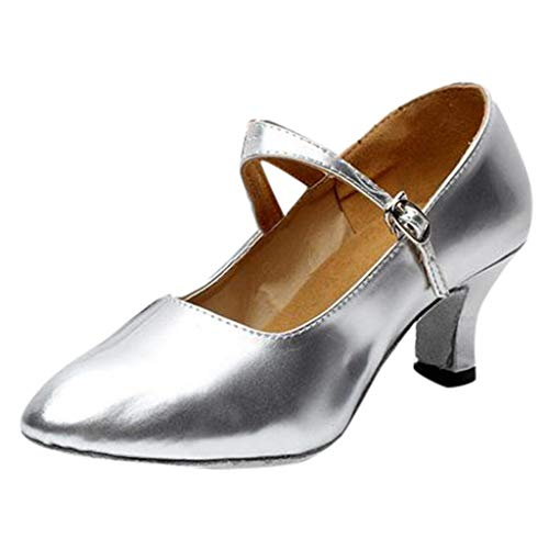 QinMM Zapatos tacón Alto Tango Rumba para Baile de salón Tango para Mujer Zapatos Brillantes de Vestir...
