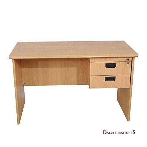 Dalvi Furnitures Works Table (Melamine Finish, Beige)