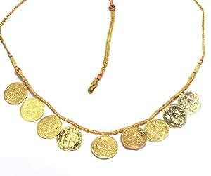Love Gold Golden Gold Plated Putli Har Necklace Maharashtrian For Women (Golden_Putl01)