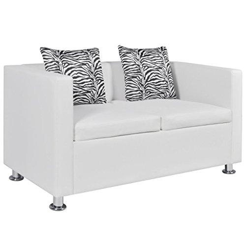 Festnight - divano in pelle artificiale ecpelle 2 posti a casa da soggiorno/ufficio