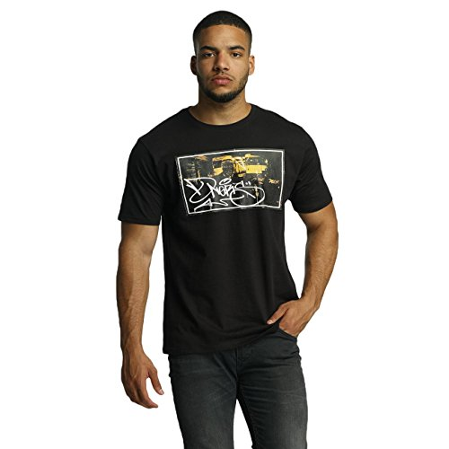 Dangerous DNGRS Herren Oberteile / T-Shirt Subway King Rocco Schwarz