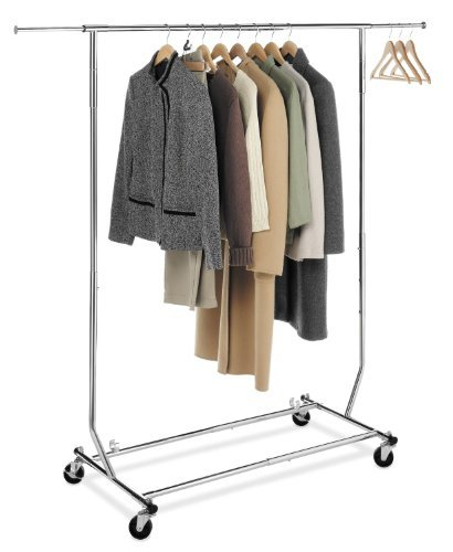 Collapsible Single Rail Rolling Salesman Garment Rack by Metropolitan Display