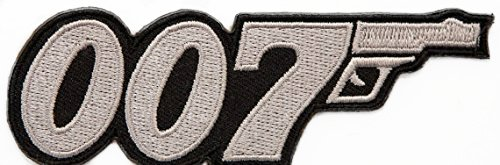 007 Patch James Bond Patch 9 cm Embroidered Iron on Badge Aufnäher Kostüm ()