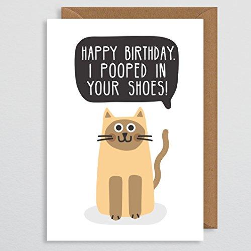 Lustige Katze Geburtstagskarte - Geburtstagskarte für Katzenliebhaber - Geburtstagskarte für Ehefrau - Freundin - Freundin - für Sie - Mutter - Schwester - Ehefrau - Verlobte - beste Freundin