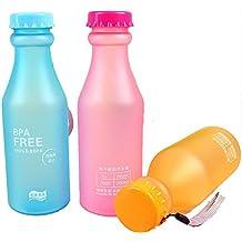 Haosen BPA free color caramelo plástica de fregar las tazas deportivas portátiles botellas de ...