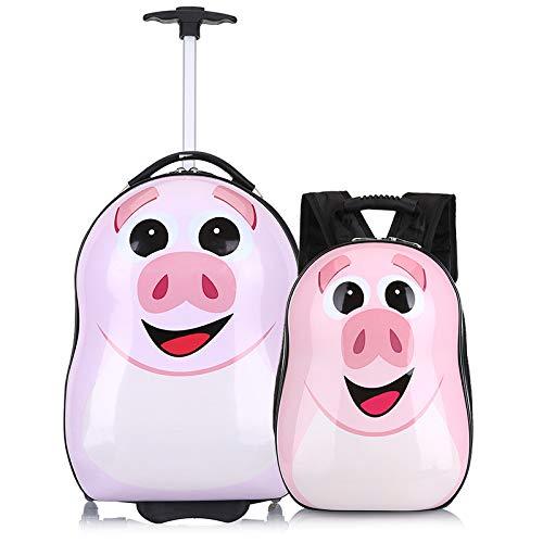 Borsa trolley per bambini per spedire zaino Borsa a tracolla per scuola primaria con valigetta in cartone animato a 2 pezzi
