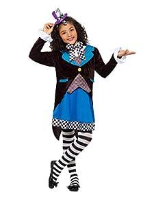 Smiffys 49693l Little Miss, con disfraz de sombrerero loco, multicolor, L-UK 10-12años de edad