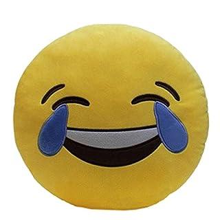 Almar LOL Emoji-Kissen mit Smiley-Emoticon, 32 cm