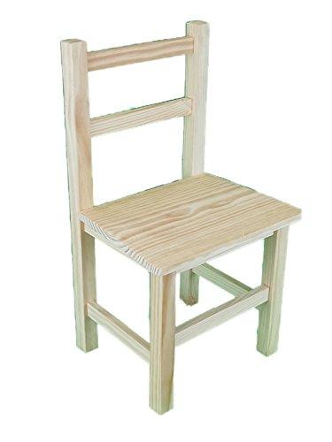Silla infantil de madera. En crudo, para decorar. Medidas (ancho/fondo/alto): 30 *...