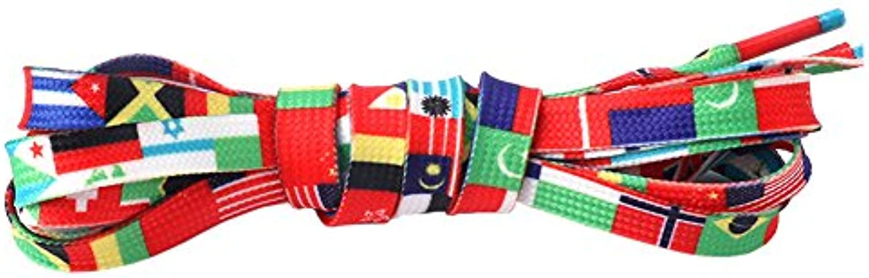 KICCOLY Cordones de zapato de múltiples arco iris de colores planos para los zapatosConverse Converse Nikes Pumas...