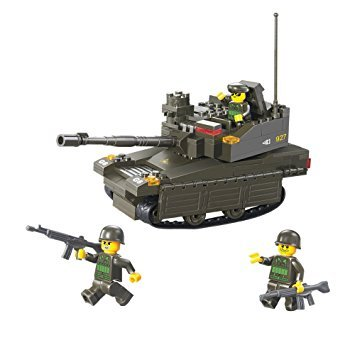 Sluban , Army Theme , Armored - Corps, Leopard Tank , 224 Piece , Block Bricks Toys , Lego Compatible , Construction Set , Made of Non-Toxic ABS , Educational Toy , M38-B0285 , Multi Color for Kids