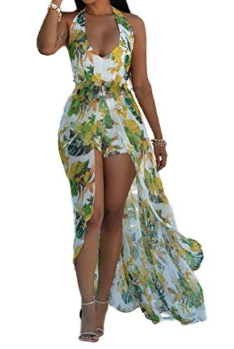 SunIfSnow Bikini - Vestito - Basic - Senza maniche - Donna Green XX-Large  ...