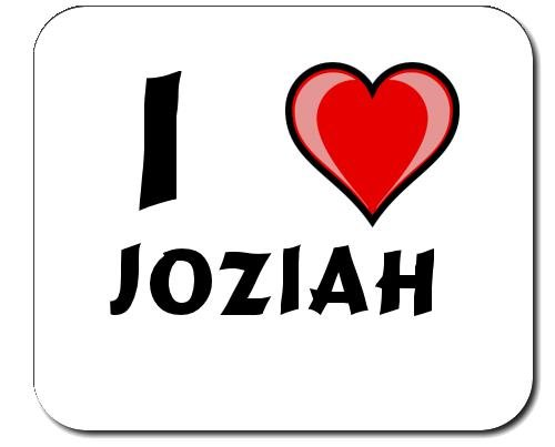 Preisvergleich Produktbild Mauspad mit Aufschrift Ich liebe Joziah (Vorname/Zuname/Spitzname)