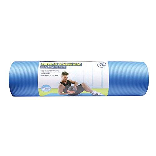 Fitness Mad Aerobic Training Yoga & Pilates Workout Tragbar Stretch Matte & Riemen - Hellblau, One Size