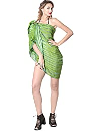 La Leela Tie Dye Frauenstrandbadebekleidung Badeanzug Bikni Rock Verpackung Pareo