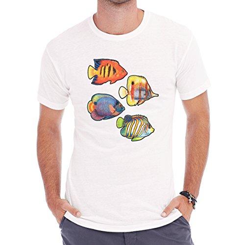 Nice Beautiful Fish Finding Nemo Herren T-Shirt Weiß