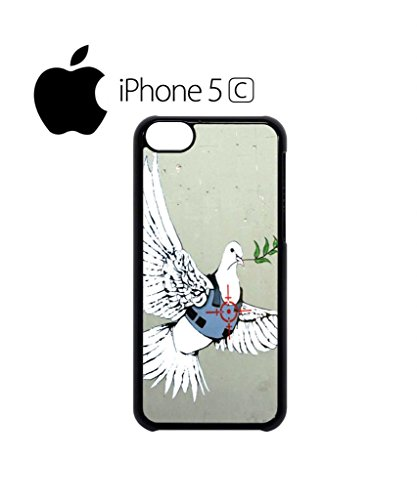 Banksy Peace War Bird Peagon Target Cell Phone Case Cover iPhone 5c Black Weiß