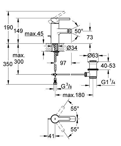 GROHE Lineare Einhand-Bidetbatterie 33848000