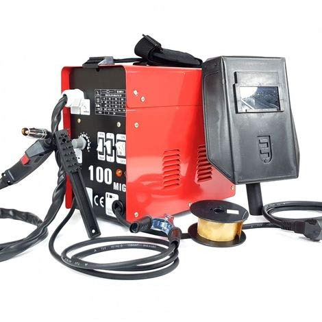 Saldatore filo continuo senza gas saldatore ventilata maquina per saldatura mig 100