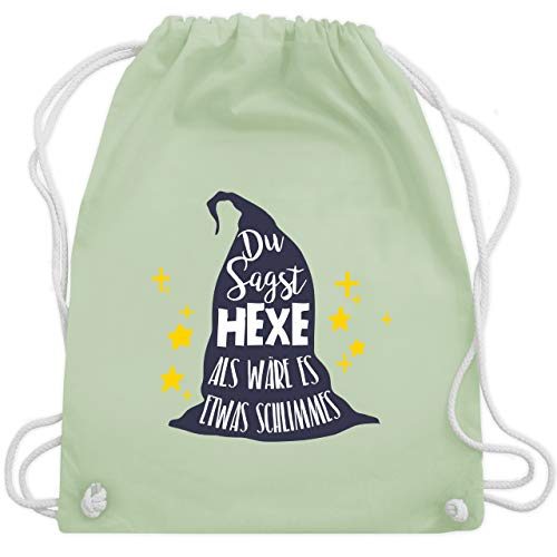 Hexe als wäre es etwas Schlimmes - Unisize - Pastell Grün - WM110 - Turnbeutel & Gym Bag ()