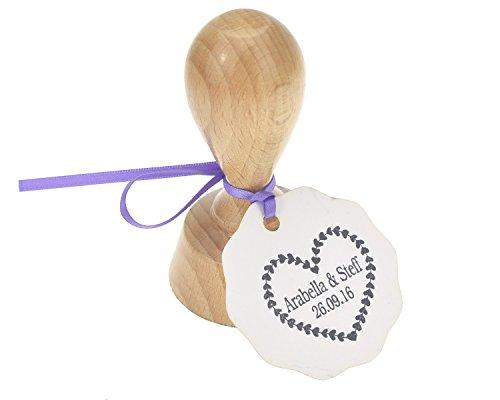 WeddingMania Stempel Herzenherz - mit Namen und Datum - Hochzeit Papeterie
