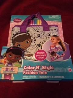 Disney Doc McStuffins Color N Style Fashion Tote with Tote and Markers