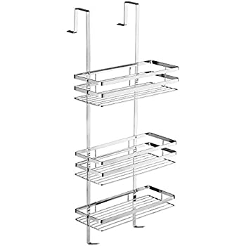 tectake stainless steel hanging shower caddy cubicle tidy. Black Bedroom Furniture Sets. Home Design Ideas