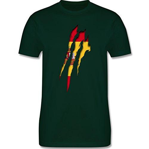 Länder - Spanien Krallenspuren - Herren Premium T-Shirt Dunkelgrün