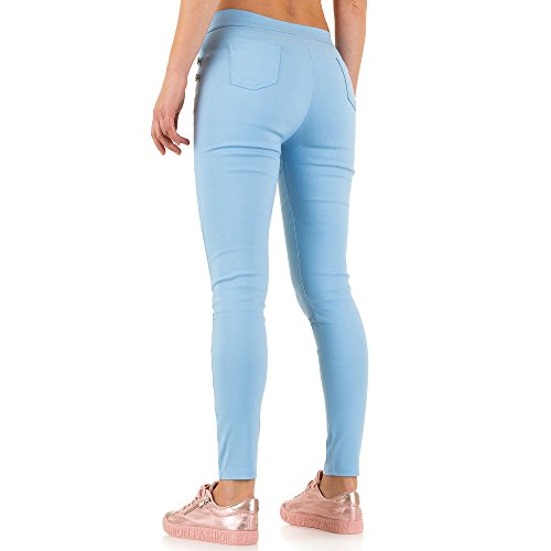 High Waist Treggings Skinny Hose Für Damen bei Ital-Design Blau