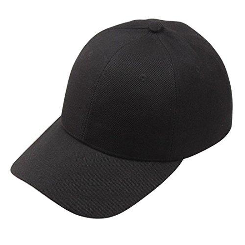 Xinantime Sombrero, Gorra de Béisbol para Gente Joven Sombreros Ajustable (Negro)
