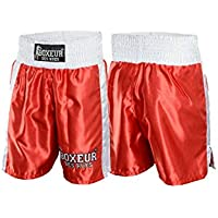 Boxeur des rues - Red Boxing Shorts with Side Bands, Man