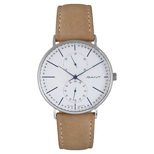 GANT Herren Analog Quarz Uhr mit Leder Armband GT036004