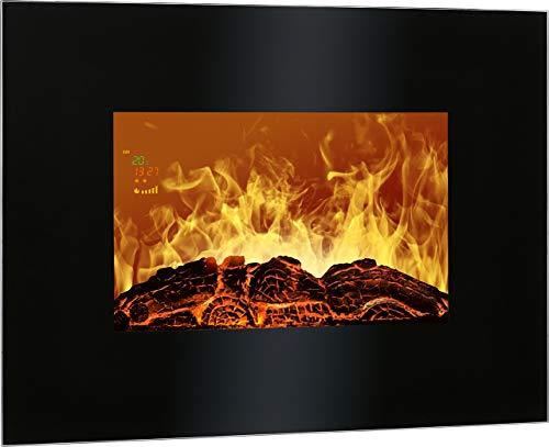 Bomann EK 6020 CB Chimenea eléctrica decorativa de pared, efecto llama ardiendo...