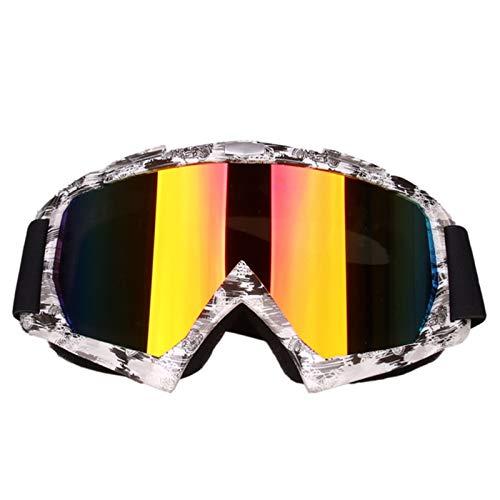 MaxAst Sportbrille Herren Motorrad Brille Polarisiert Arbeitsbrille Schutzbrille Schwarz Weiß
