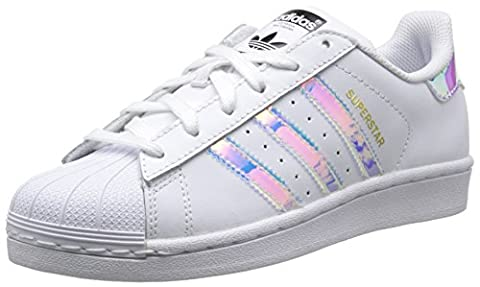 adidas Unisex-Kinder Superstar Sneakers, Blanc (Ftwr White/Ftwr White/Metallic Silver Sld),