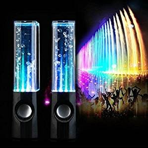 LED WATER DANCING USB SPEAKERS PC/Mac/MP3 Players/Mobile Phones/Tablets (Black 1)