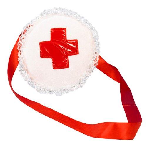 Krankenschwester Tasche, Reisverschluss, Spitzenverzierung, Erste Hilfe (Kostüm Arzt Erste)
