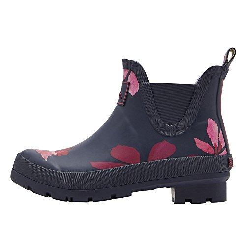 Tom Joule Joules Wellibob Kurze Womens Boot Gummistiefel (Z) French Navy Chestnut Leaves UK4 EU37 US6
