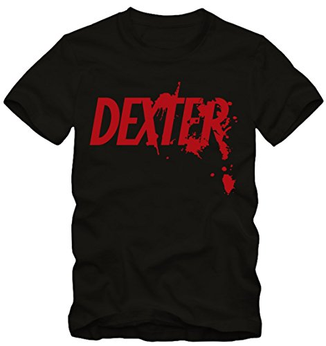 Bisura t-shirt dexter morgan (m uomo, nero)