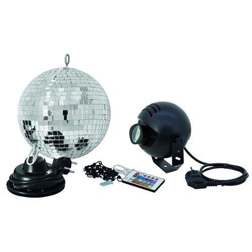 Eurolite 50101857 Spiegelkugelset (20 cm) mit FB RGB LED Spot Licht