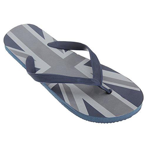 FLOSO® Herren Flip Flops Union Jack (EUR 41-42) (Marineblau/Grau)