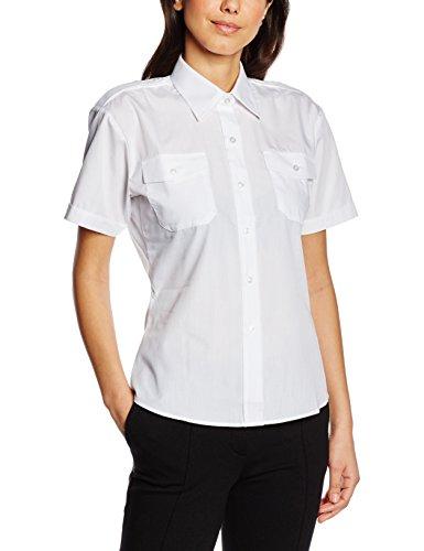 Premier Workwear Ladies Short Sleeve Pilot Shirt, Chemisier Femme Blanc