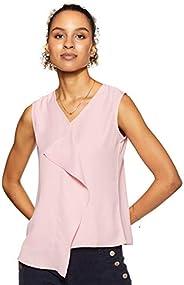 Amazon Brand - Symbol Women's Solid Regular Fit Sleeveless