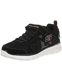 545d52f05aa1 Skechers Vim-Speed Thru Kids Trainers Fitness Lightweight Black White